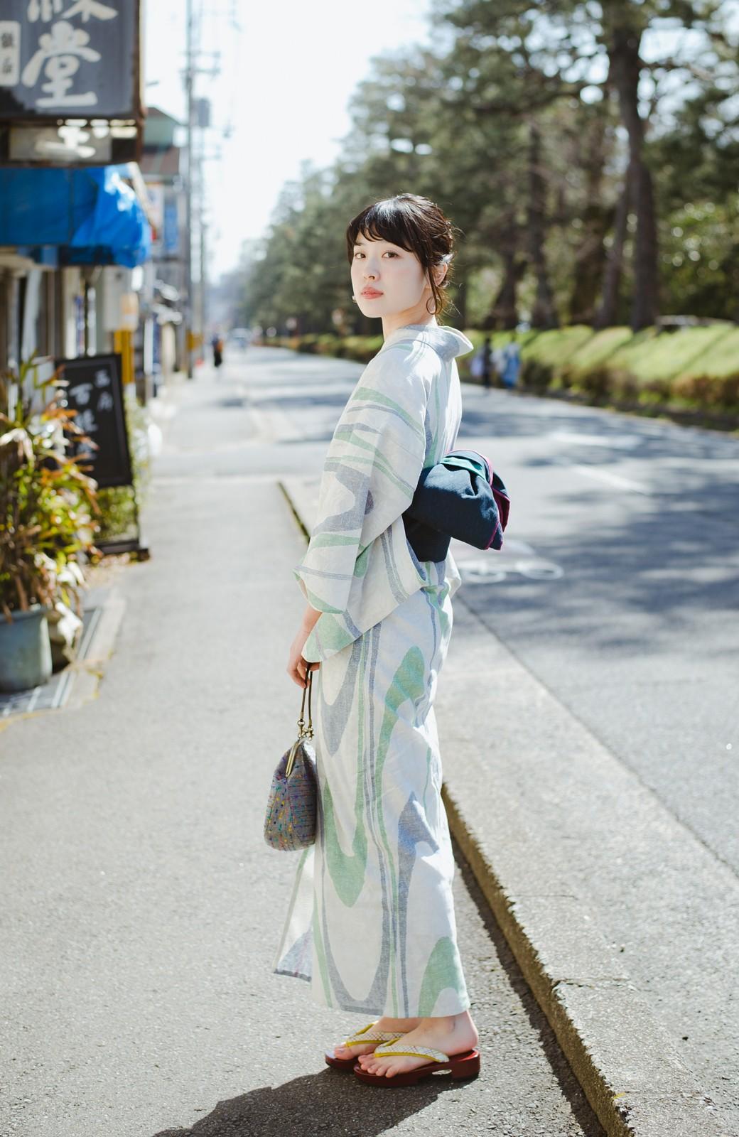 haco! ひでや工房 京都の3色へこ帯  <パープル系その他>の商品写真14