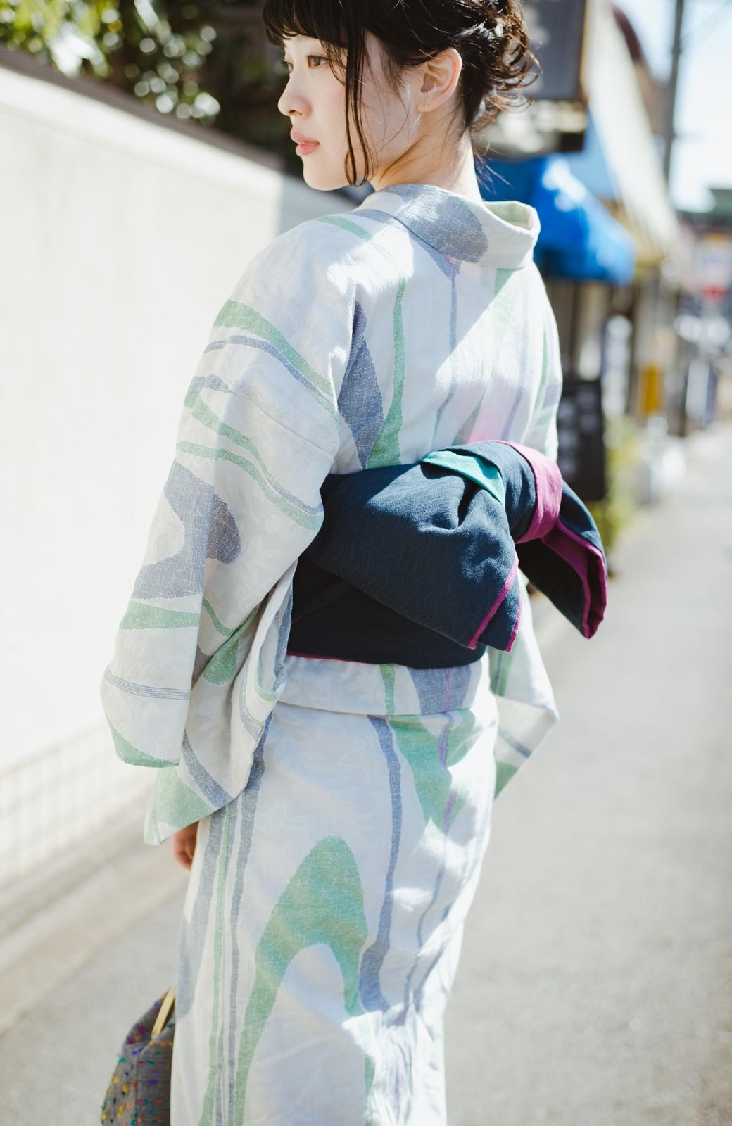 haco! ひでや工房 京都の3色へこ帯  <パープル系その他>の商品写真15