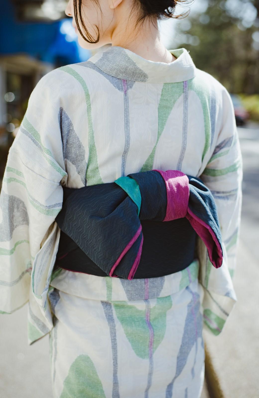 haco! ひでや工房 京都の3色へこ帯  <パープル系その他>の商品写真16