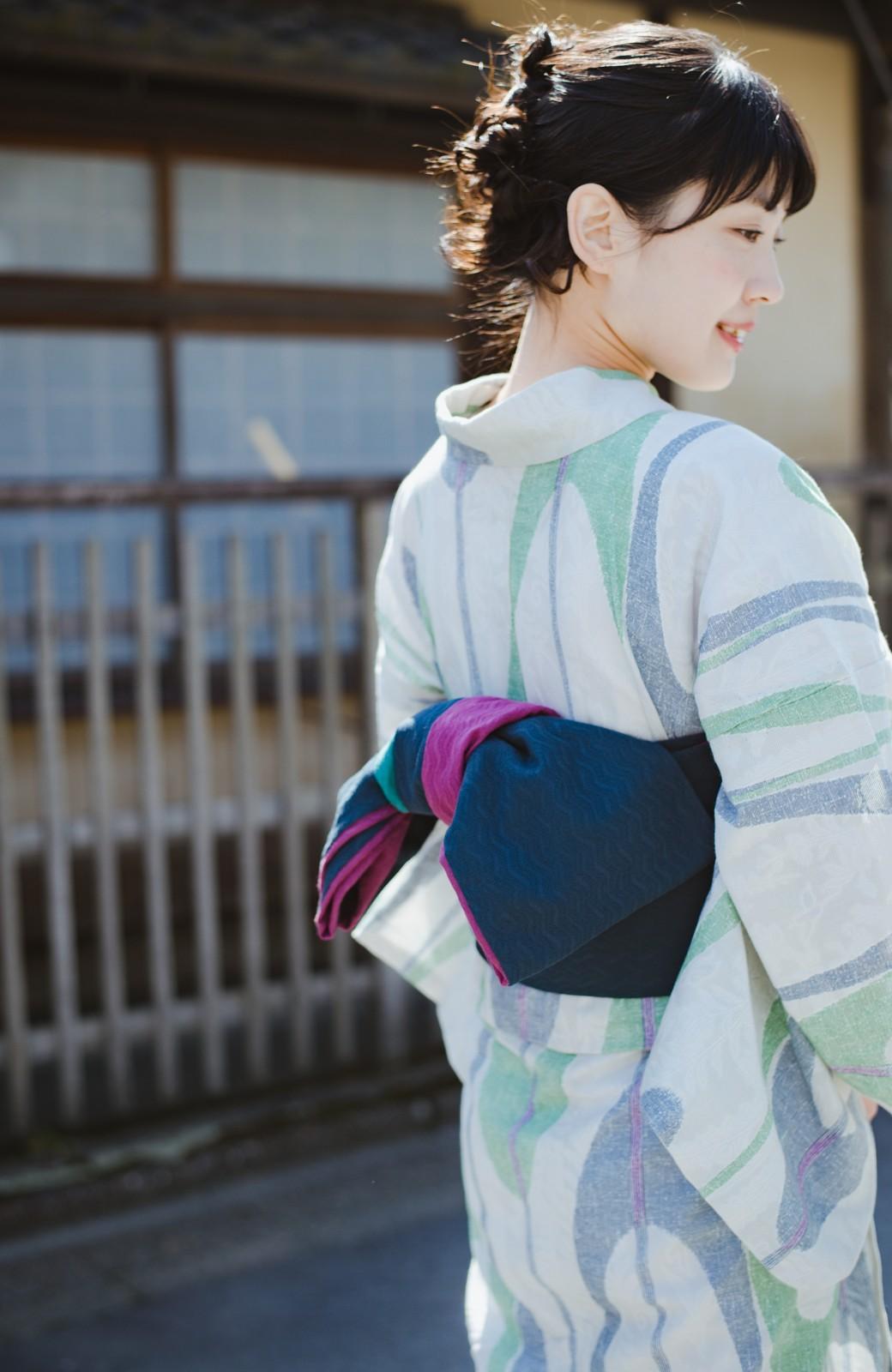 haco! ひでや工房 京都の3色へこ帯  <パープル系その他>の商品写真18