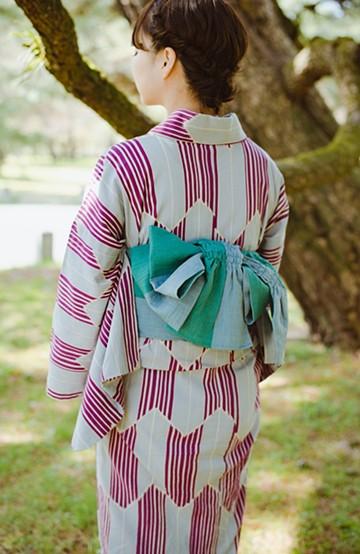 haco! ひでや工房 京都のへこ帯  <グリーン系その他>の商品写真