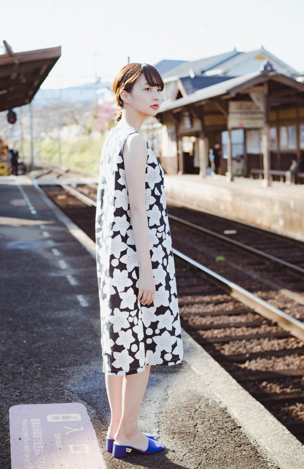 haco! 京都の浴衣屋さんと作った浴衣生地のワンピース <ブラック系その他>の商品写真6