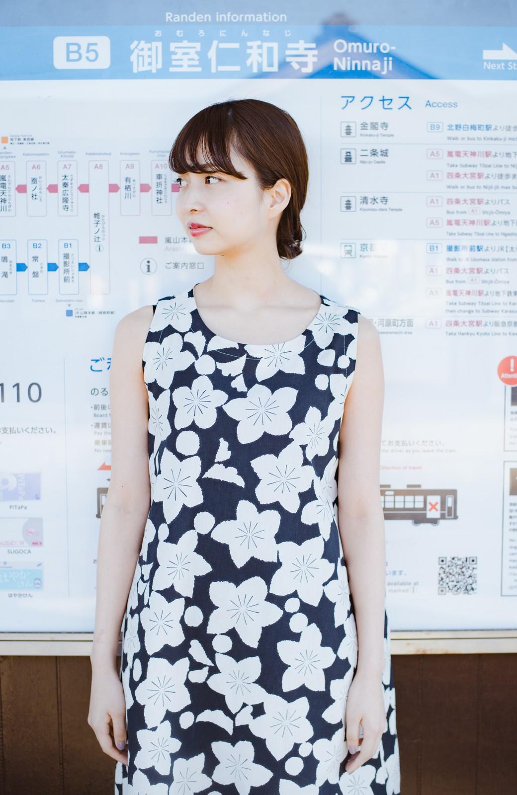 haco! 京都の浴衣屋さんと作った浴衣生地のワンピース <ブラック系その他>の商品写真7