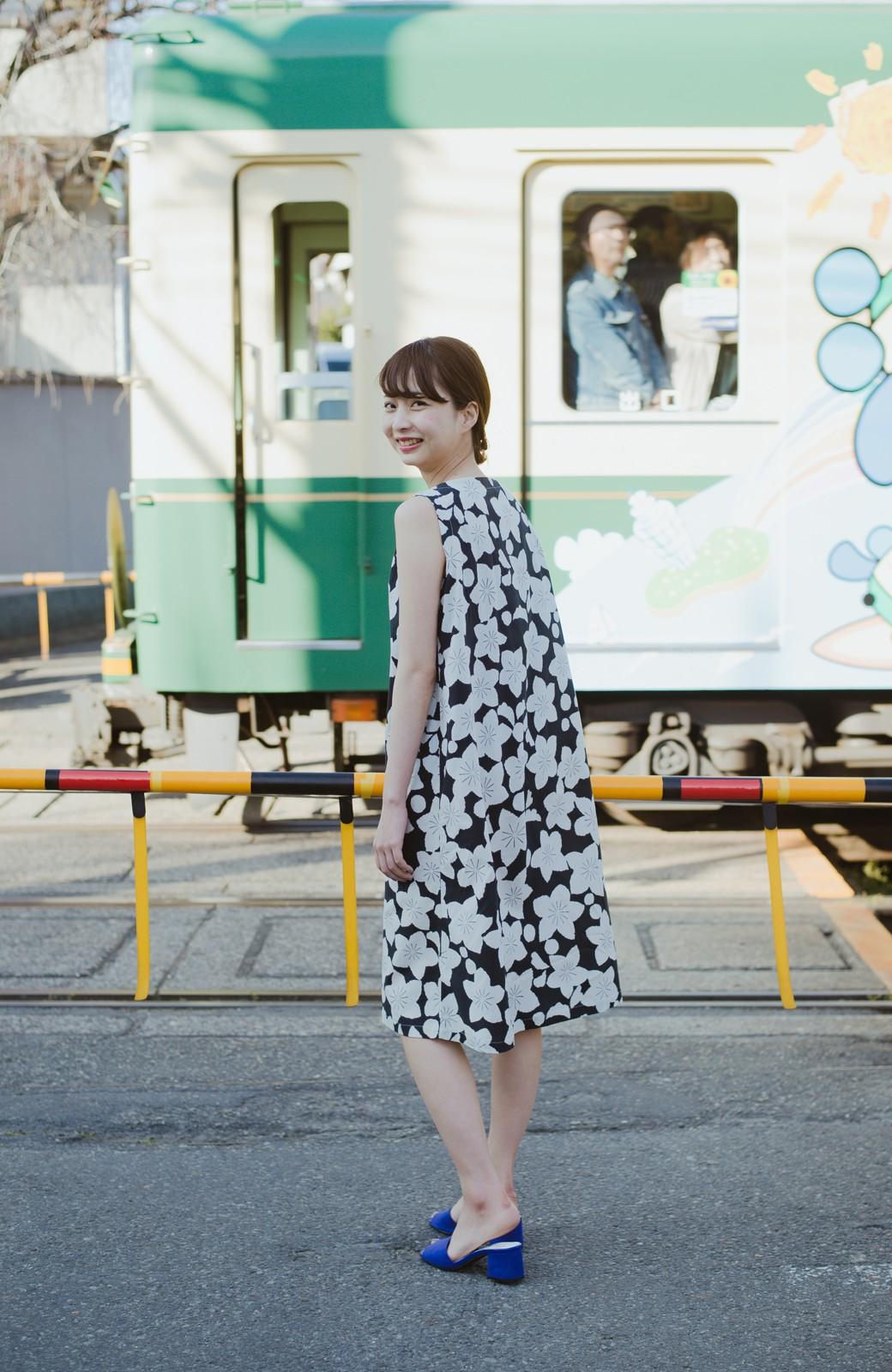 haco! 京都の浴衣屋さんと作った浴衣生地のワンピース <ブラック系その他>の商品写真10
