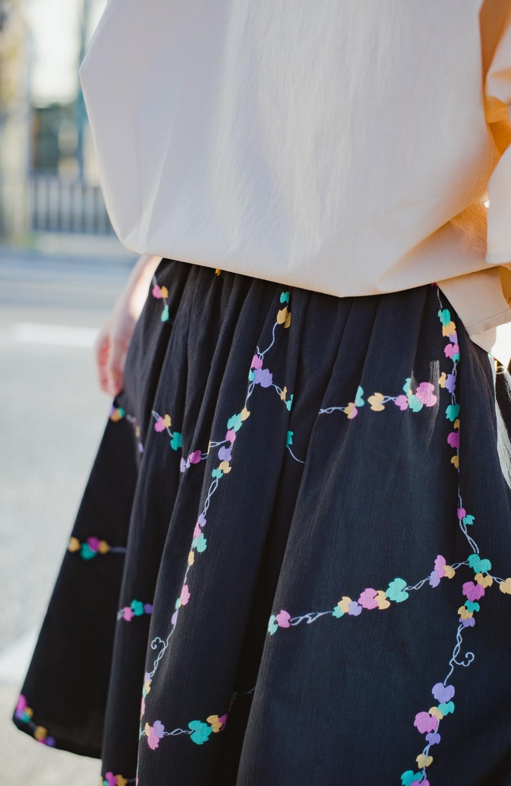 haco! 京都の浴衣屋さんと作った浴衣生地のスカート <ブラック系その他>の商品写真4