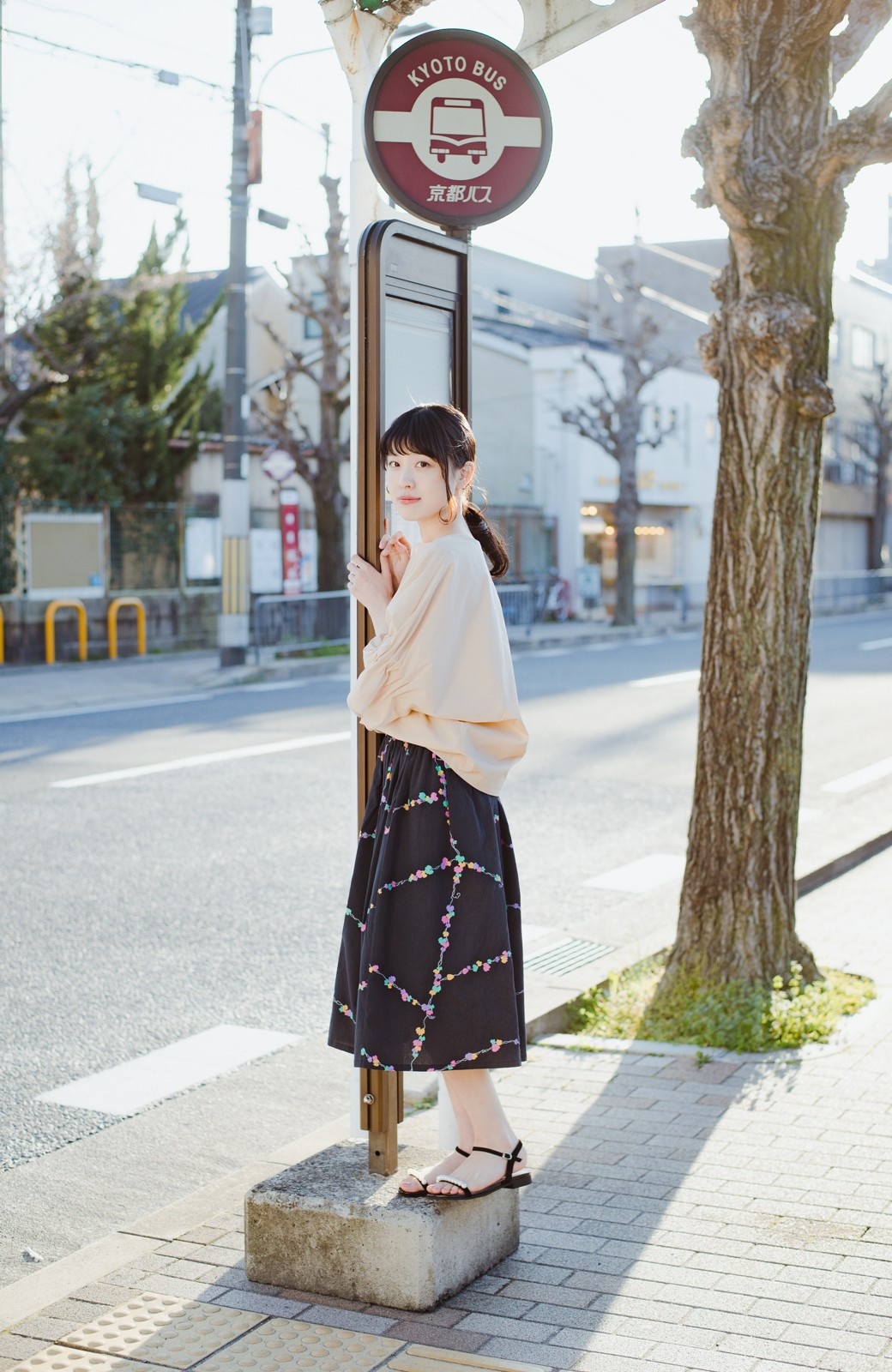 haco! 京都の浴衣屋さんと作った浴衣生地のスカート <ブラック系その他>の商品写真6