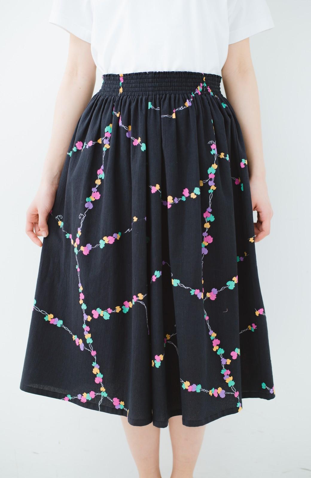 haco! 京都の浴衣屋さんと作った浴衣生地のスカート <ブラック系その他>の商品写真7
