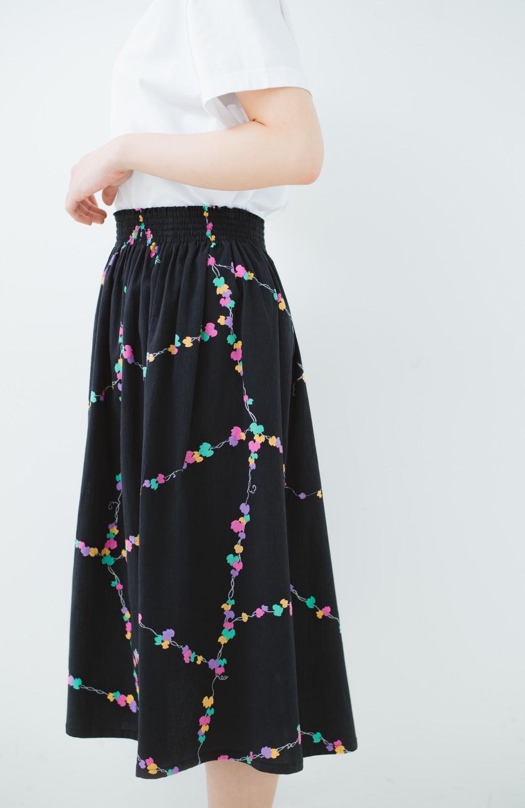 haco! 京都の浴衣屋さんと作った浴衣生地のスカート <ブラック系その他>の商品写真8