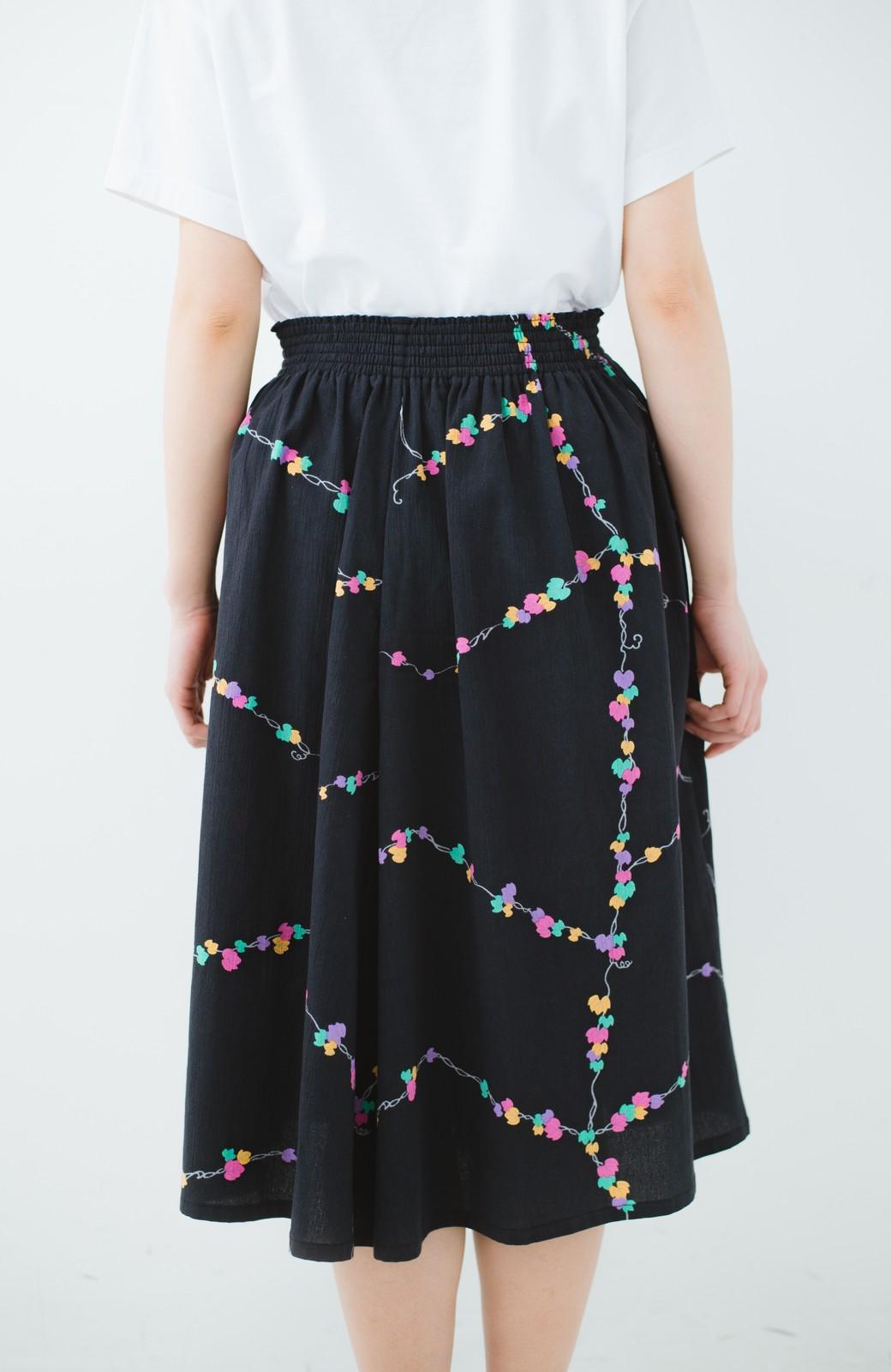 haco! 京都の浴衣屋さんと作った浴衣生地のスカート <ブラック系その他>の商品写真9