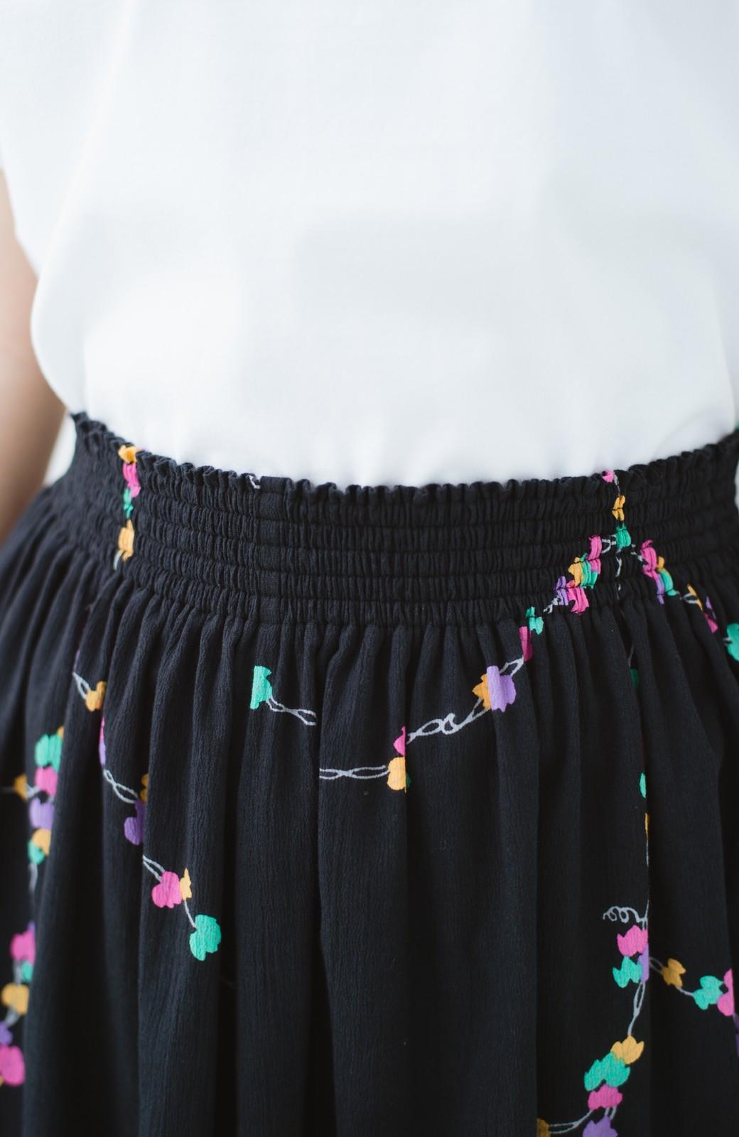 haco! 京都の浴衣屋さんと作った浴衣生地のスカート <ブラック系その他>の商品写真10