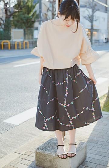 haco! 【コラボ3年目!】京都の浴衣屋さんと作った浴衣生地のスカート <ブラック系その他>の商品写真