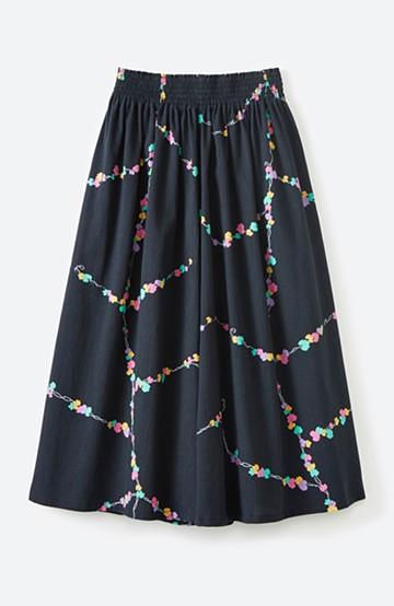 haco! 京都の浴衣屋さんと作った浴衣生地のスカート <ブラック系その他>の商品写真