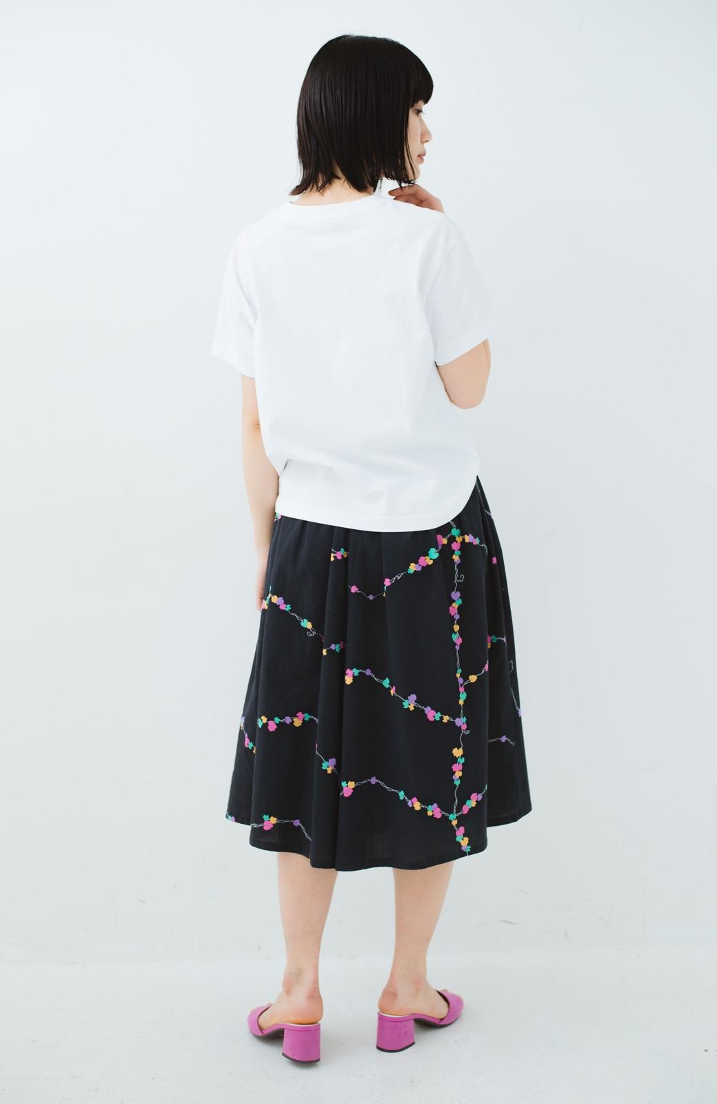 haco! 京都の浴衣屋さんと作った浴衣生地のスカート <ブラック系その他>の商品写真14