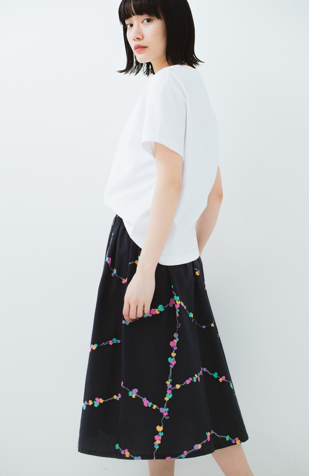 haco! 京都の浴衣屋さんと作った浴衣生地のスカート <ブラック系その他>の商品写真18