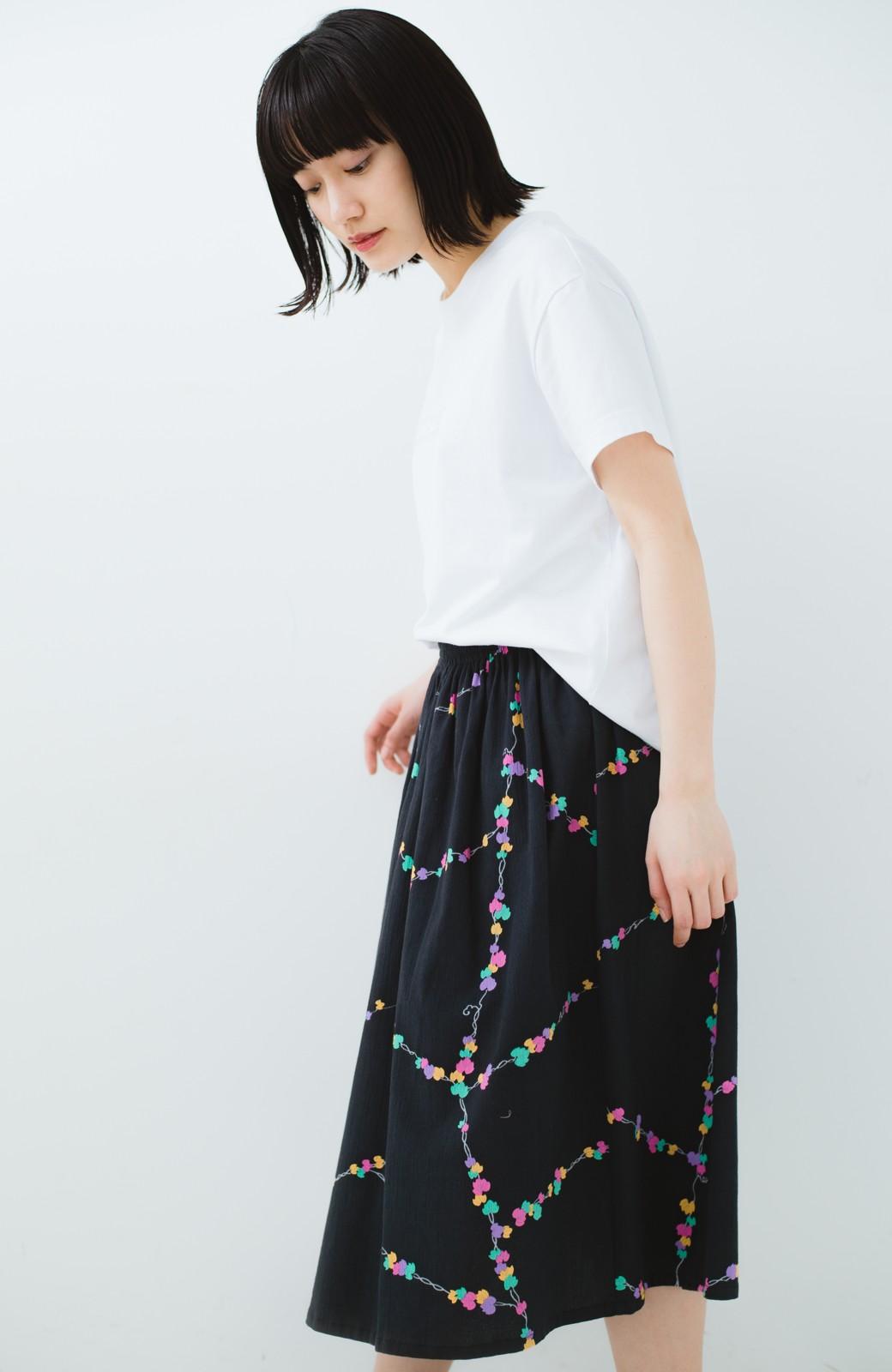 haco! 京都の浴衣屋さんと作った浴衣生地のスカート <ブラック系その他>の商品写真19