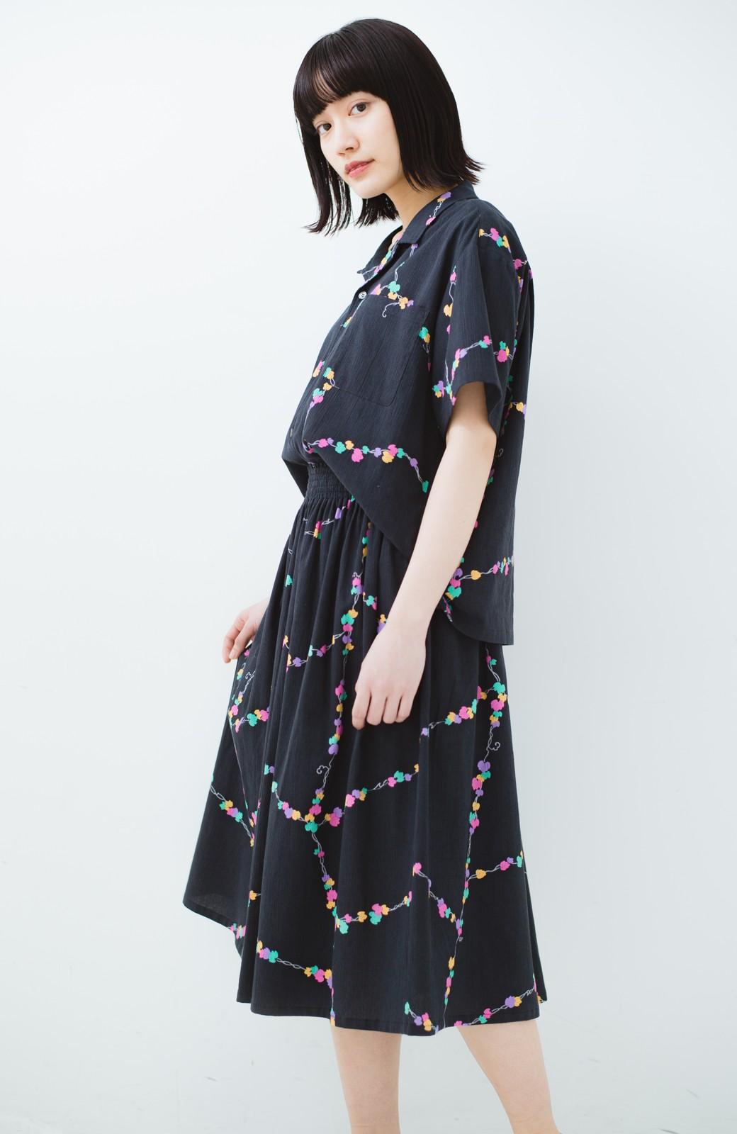 haco! 京都の浴衣屋さんと作った浴衣生地のスカート <ブラック系その他>の商品写真20