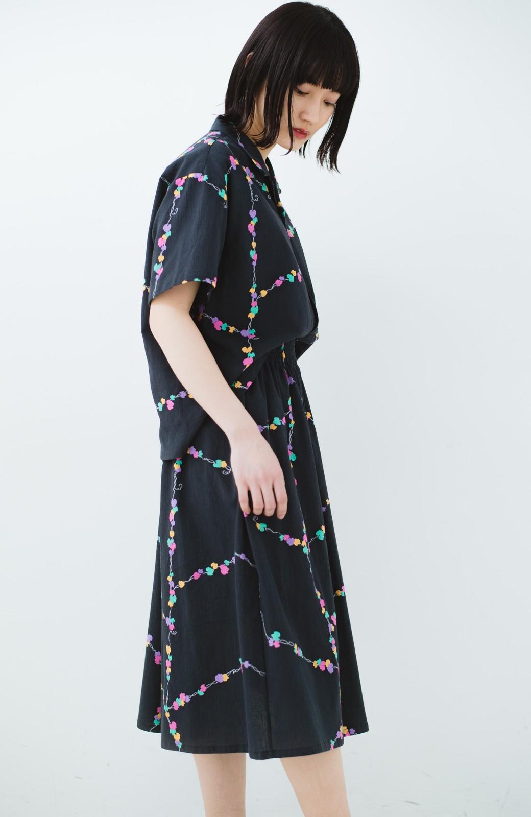haco! 京都の浴衣屋さんと作った浴衣生地のスカート <ブラック系その他>の商品写真21
