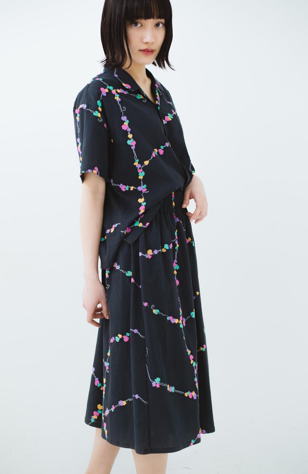 haco! 京都の浴衣屋さんと作った浴衣生地のスカート <ブラック系その他>の商品写真22