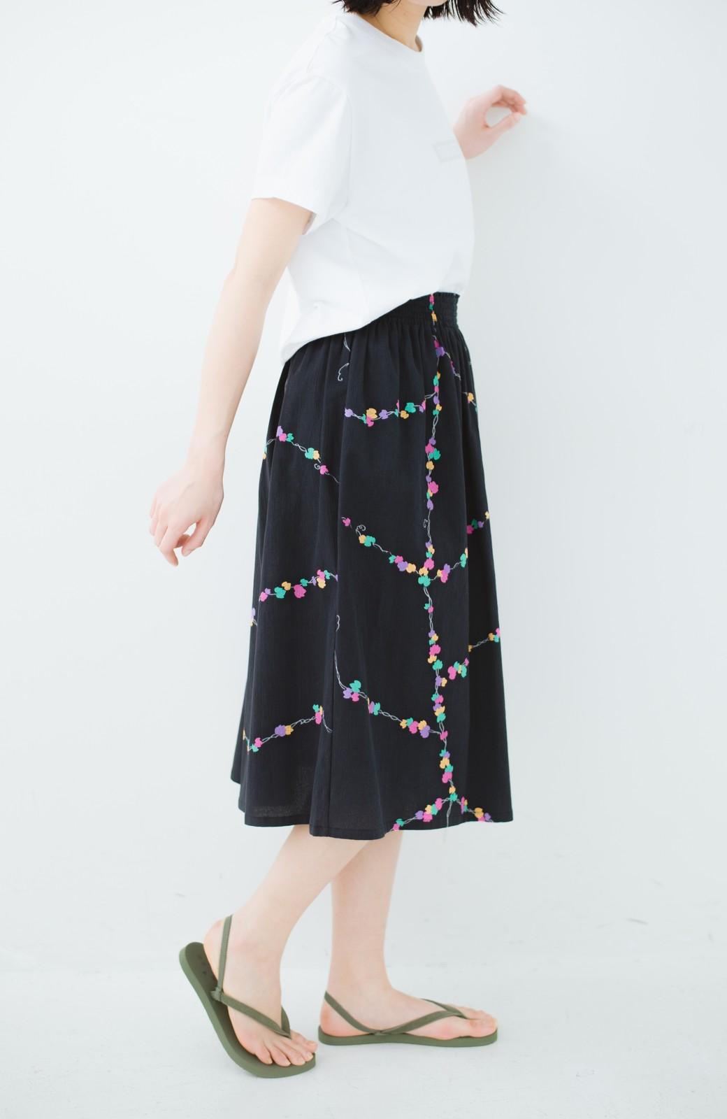 haco! 京都の浴衣屋さんと作った浴衣生地のスカート <ブラック系その他>の商品写真15