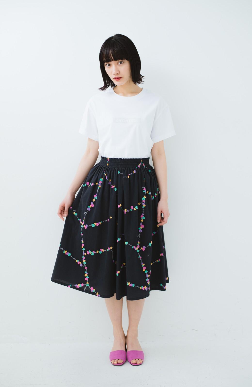 haco! 京都の浴衣屋さんと作った浴衣生地のスカート <ブラック系その他>の商品写真11