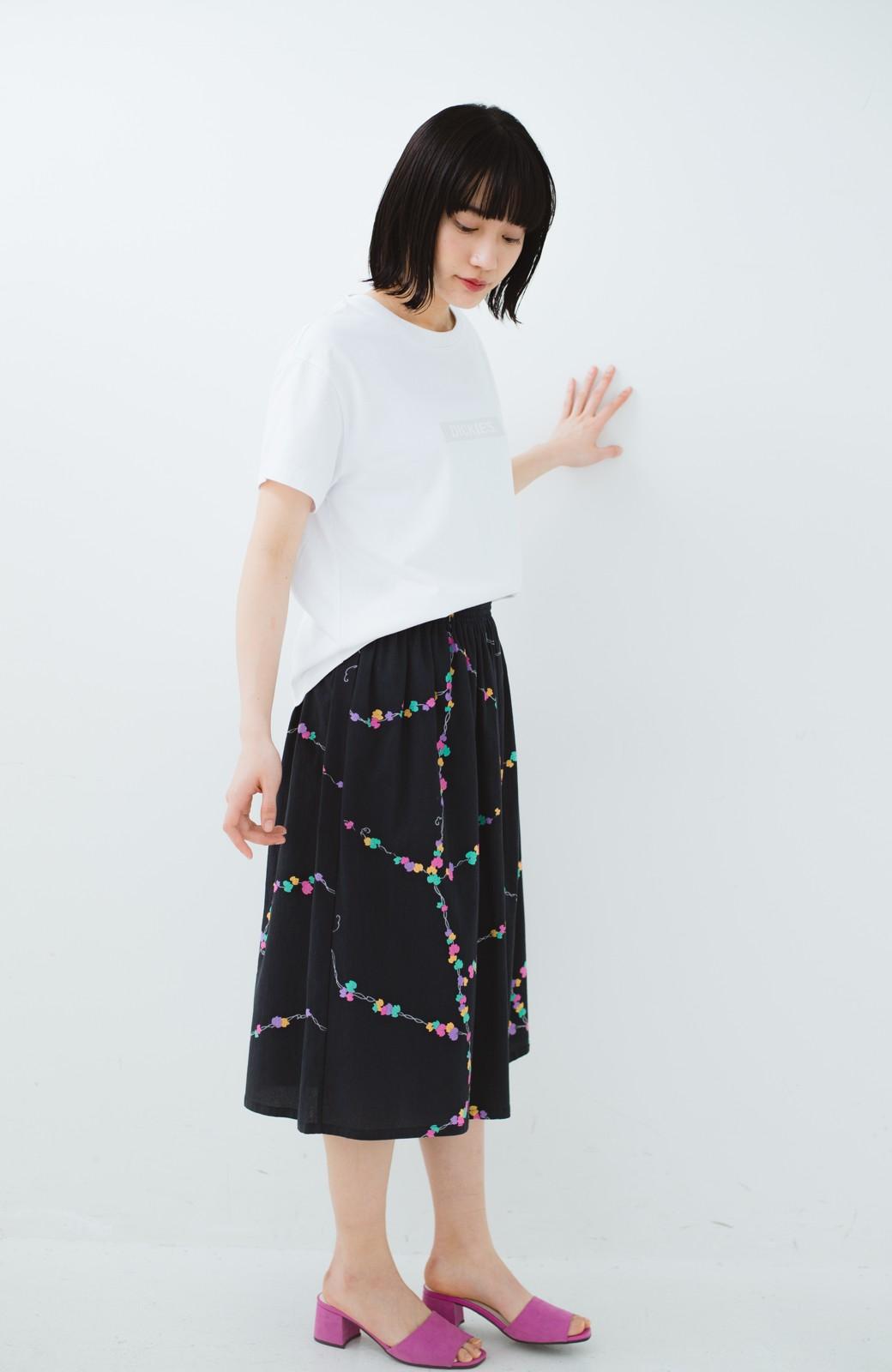 haco! 京都の浴衣屋さんと作った浴衣生地のスカート <ブラック系その他>の商品写真13