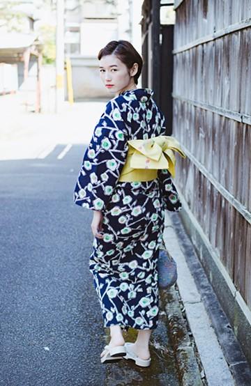 haco! ひでや工房 京都の綿ちりめん浴衣 <ブルー系その他>の商品写真