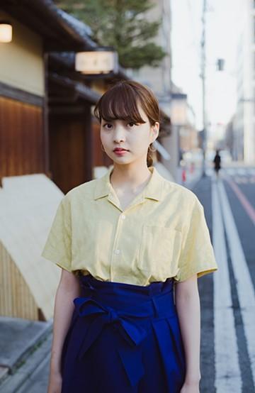 haco! 京都の浴衣屋さんと作った浴衣生地のシャツ <イエロー>の商品写真