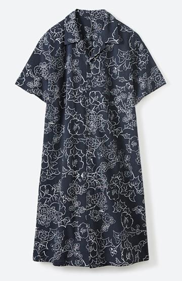 haco! 京都の浴衣屋さんと作った浴衣生地のシャツワンピース <スミクロ>の商品写真