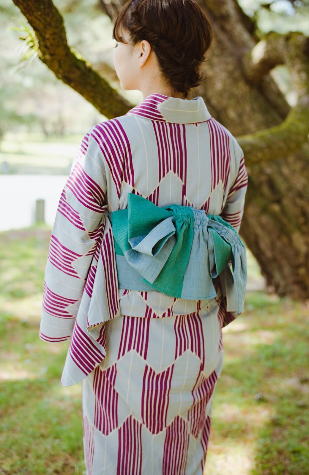 haco! ひでや工房 京都の綿ちりめん浴衣 <パープル系その他>の商品写真17