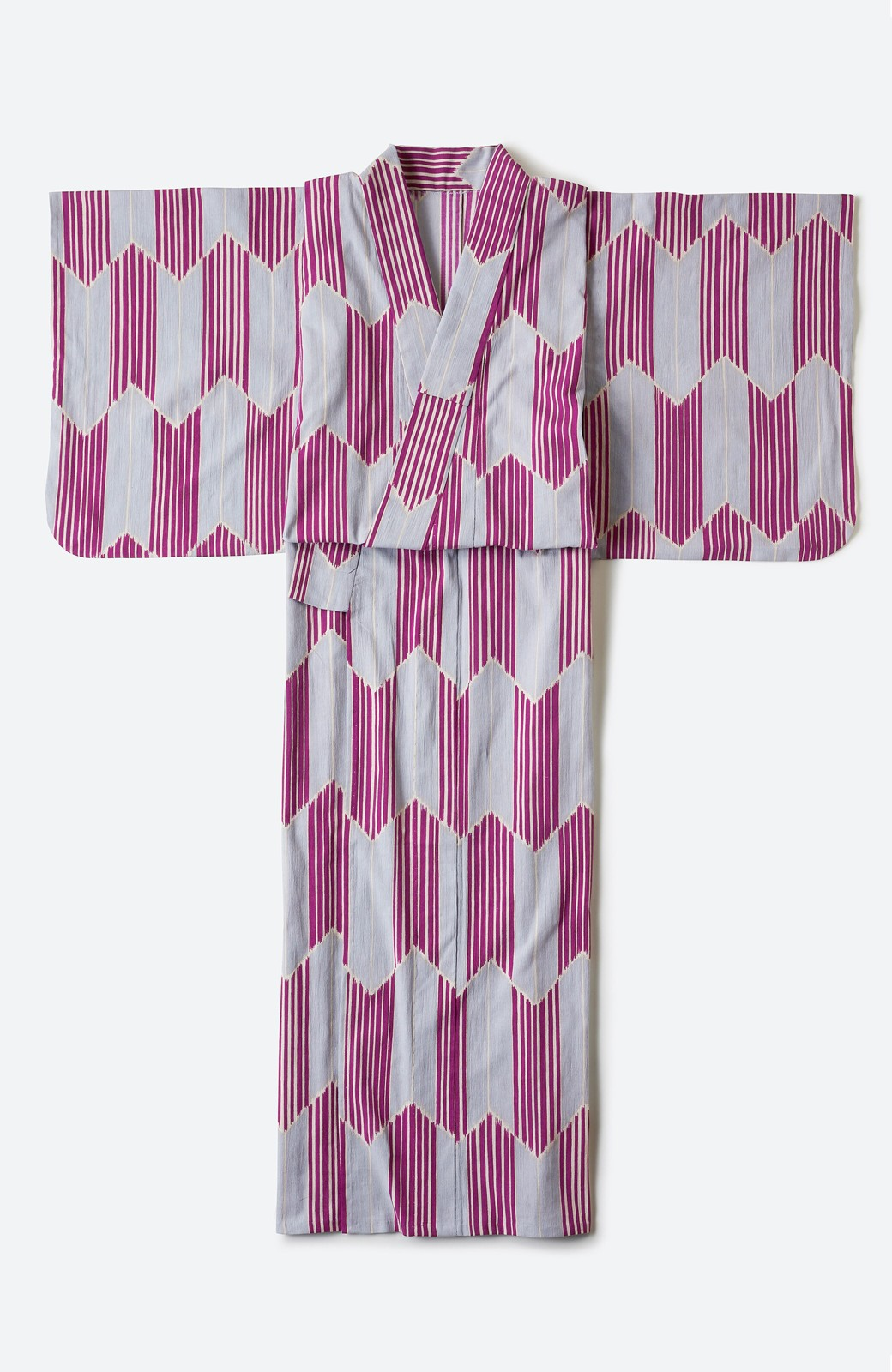 haco! ひでや工房 京都の綿ちりめん浴衣 <パープル系その他>の商品写真3