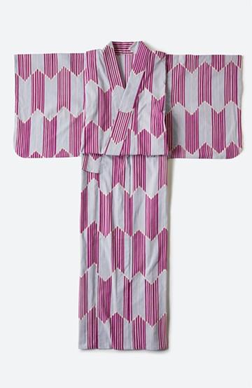 haco! ひでや工房 京都の綿ちりめん浴衣 <パープル系その他>の商品写真