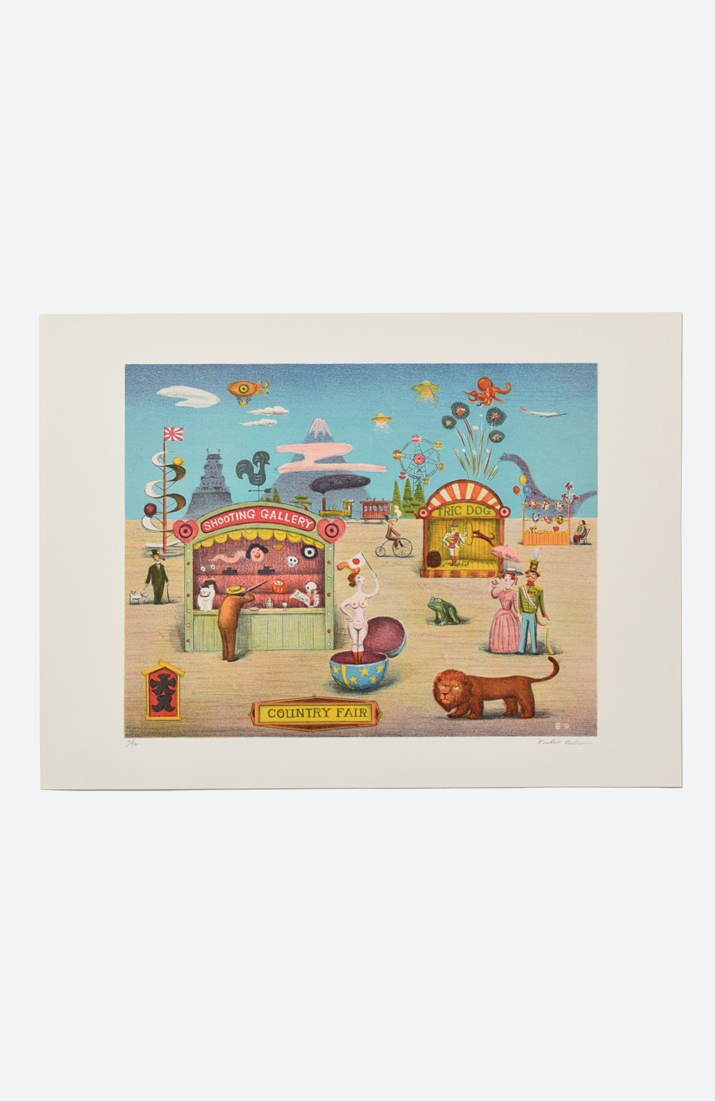 haco! 【アート】馬場檮男 「蛙のいる風景」 <その他>の商品写真1