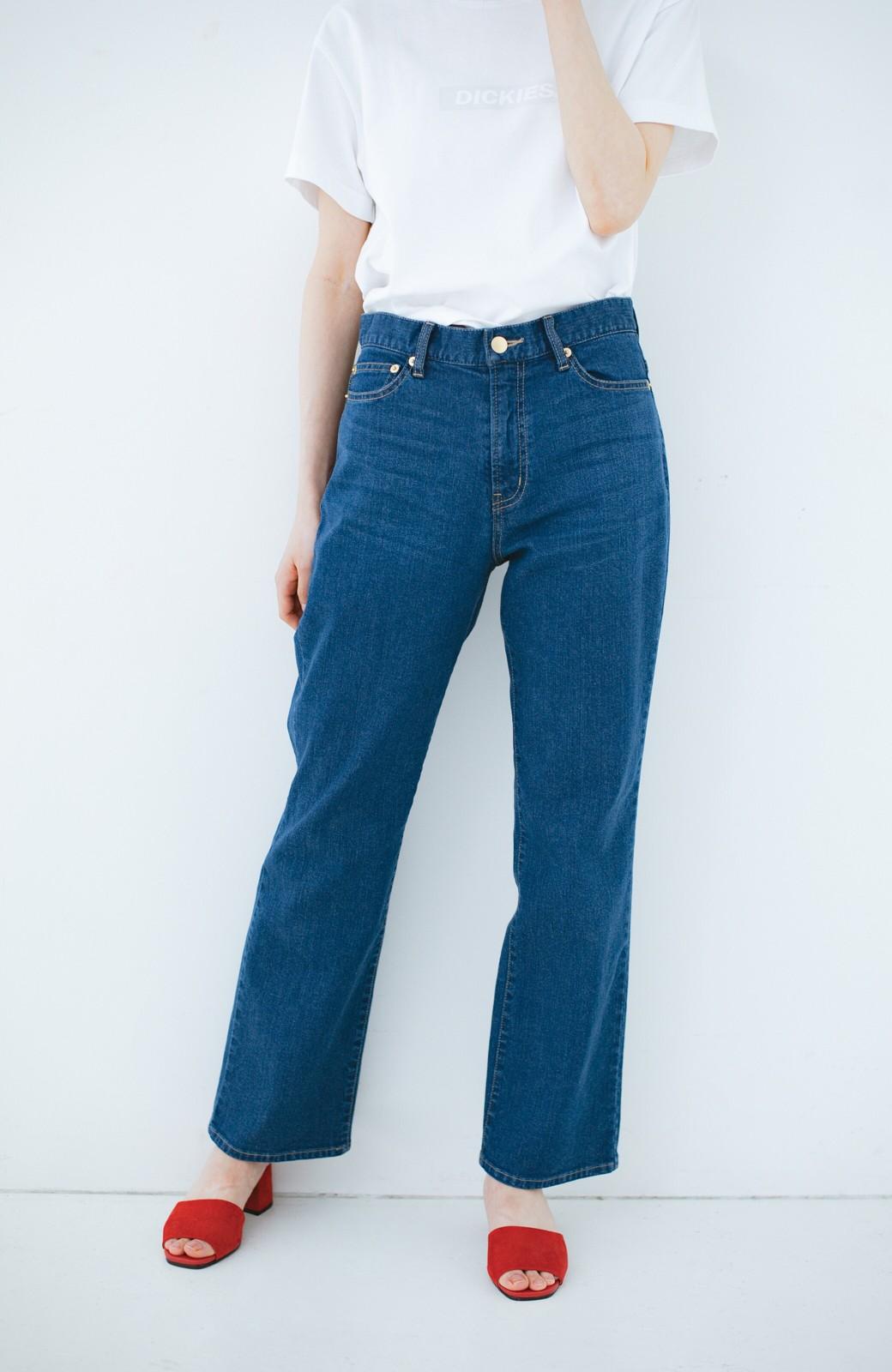haco! 見た目-2キロ?!な気がするきれいなシルエットのデニムパンツ by que made me <インディゴブルー>の商品写真2
