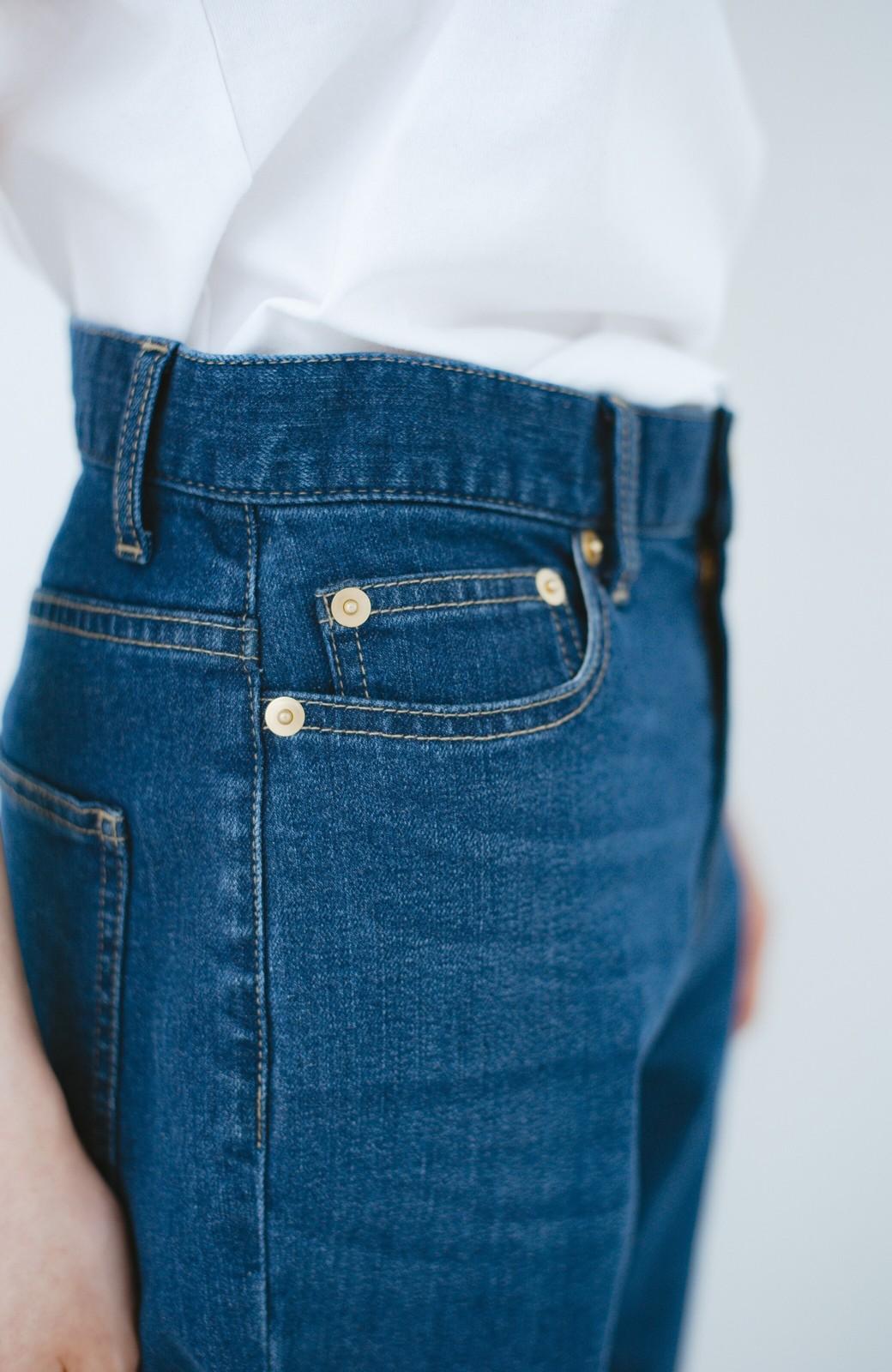 haco! 見た目-2キロ?!な気がするきれいなシルエットのデニムパンツ by que made me <インディゴブルー>の商品写真7