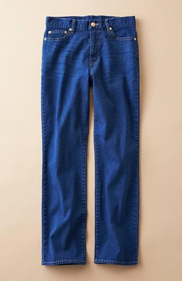 haco! 見た目-2キロ?!な気がするきれいなシルエットのデニムパンツ by que made me <インディゴブルー>の商品写真