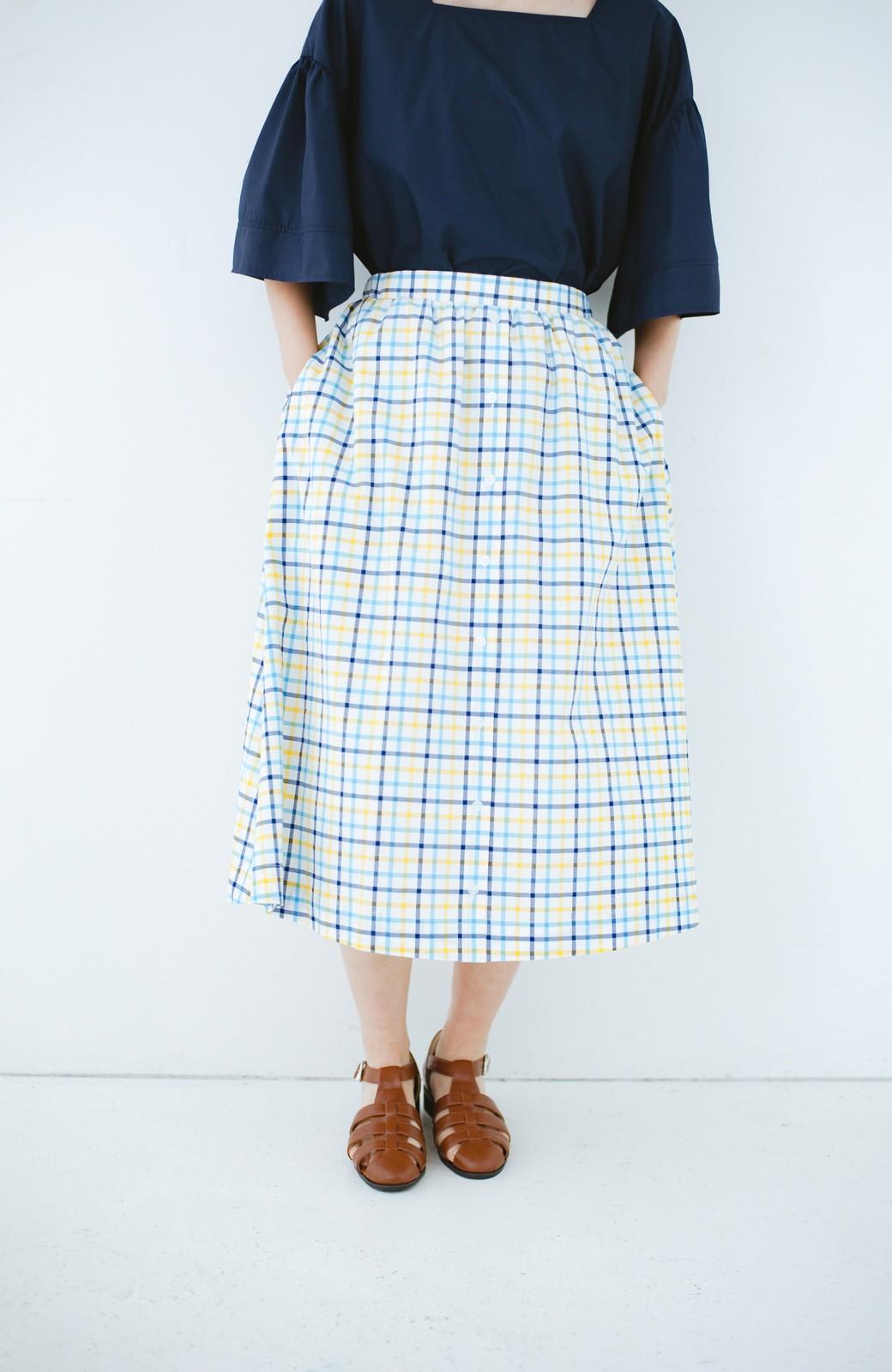 haco! ドキドキした気持ちになりたい時の華やかチェックフレアースカート <イエロー>の商品写真3