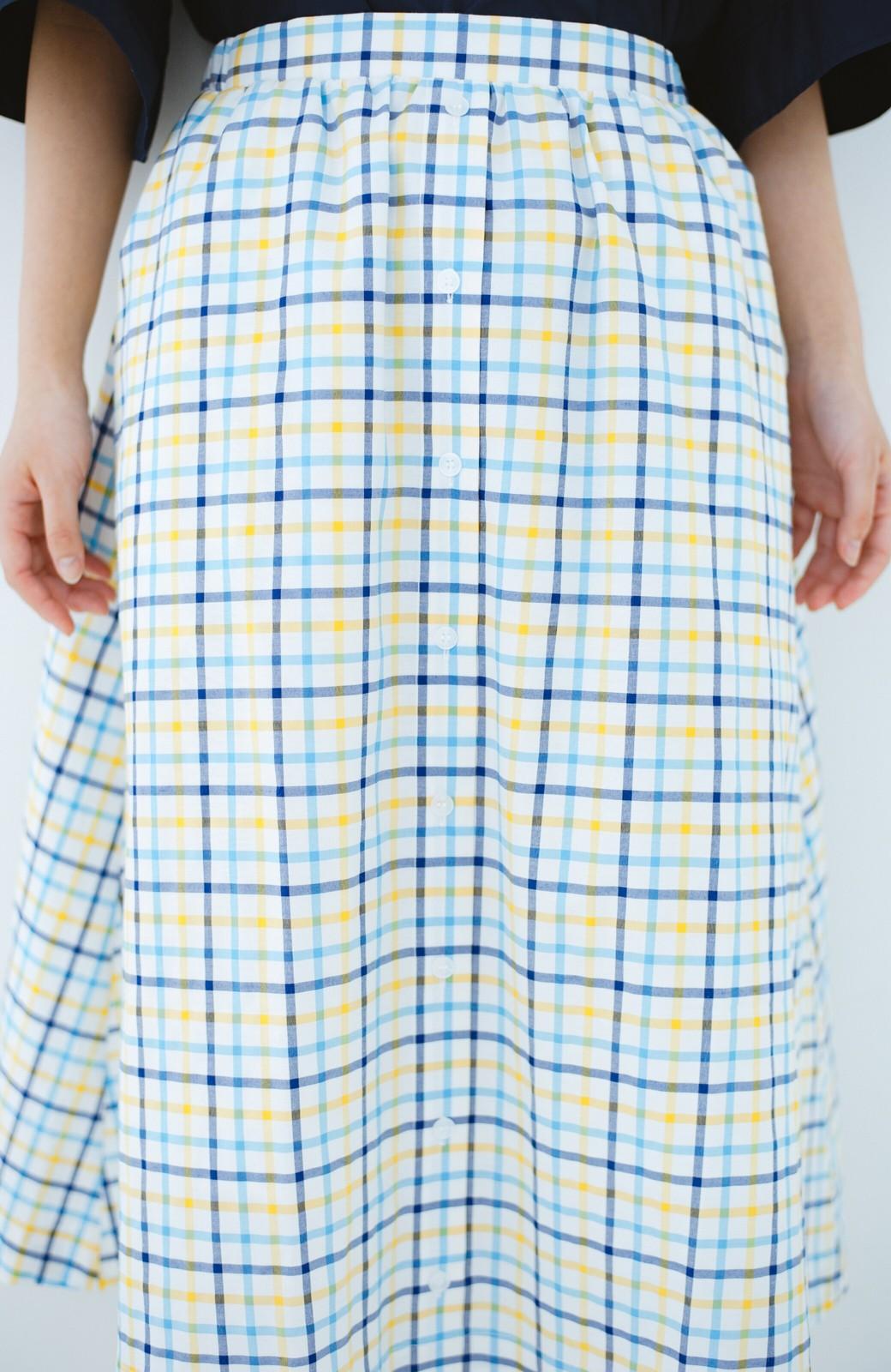 haco! ドキドキした気持ちになりたい時の華やかチェックフレアースカート <イエロー>の商品写真4