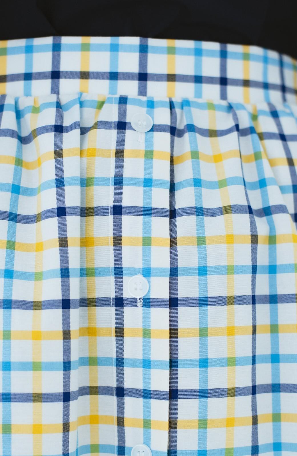 haco! ドキドキした気持ちになりたい時の華やかチェックフレアースカート <イエロー>の商品写真5