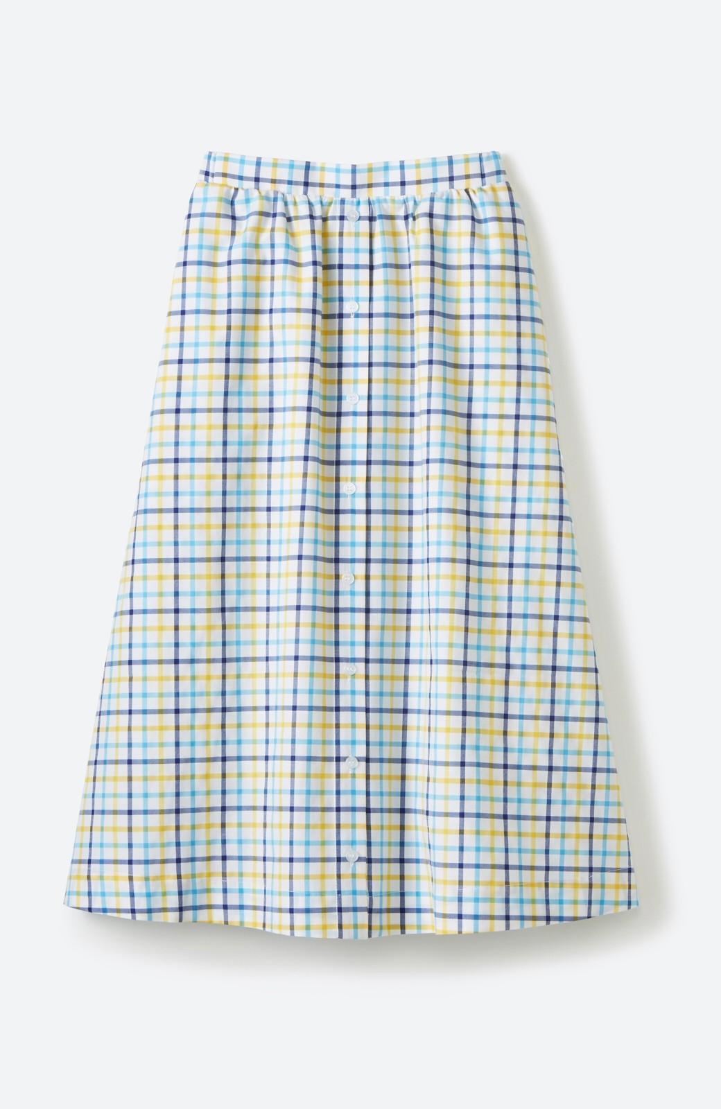 haco! ドキドキした気持ちになりたい時の華やかチェックフレアースカート <イエロー>の商品写真2