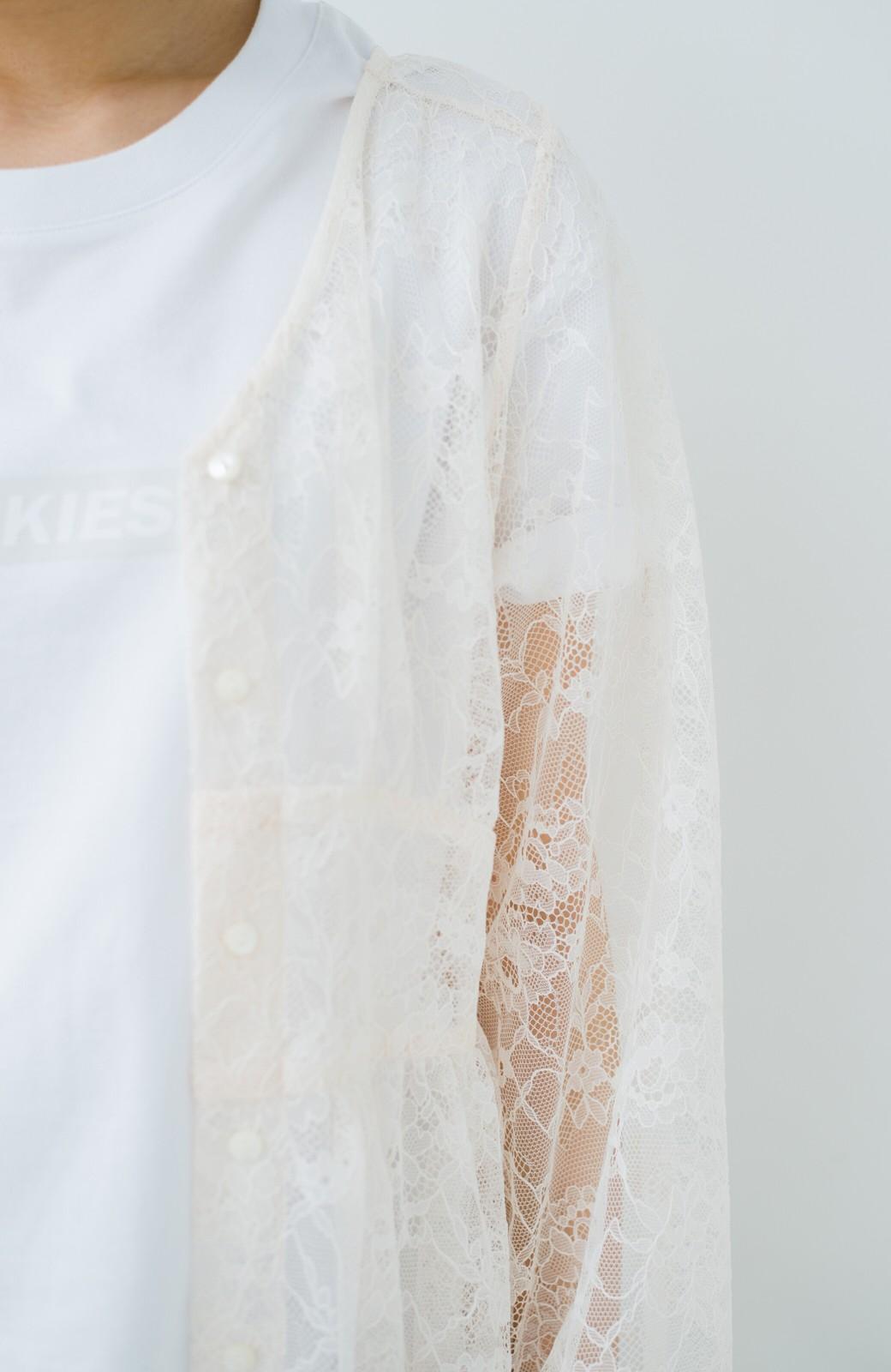 haco! KANA MATSUNAMI Lacy Maxi Dress <ホワイト>の商品写真6