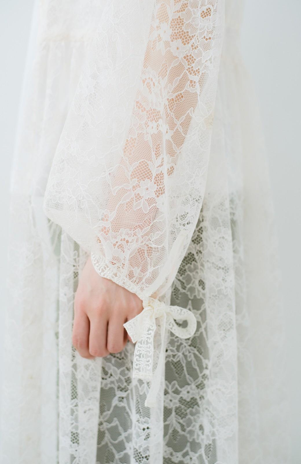 haco! KANA MATSUNAMI Lacy Maxi Dress <ホワイト>の商品写真7