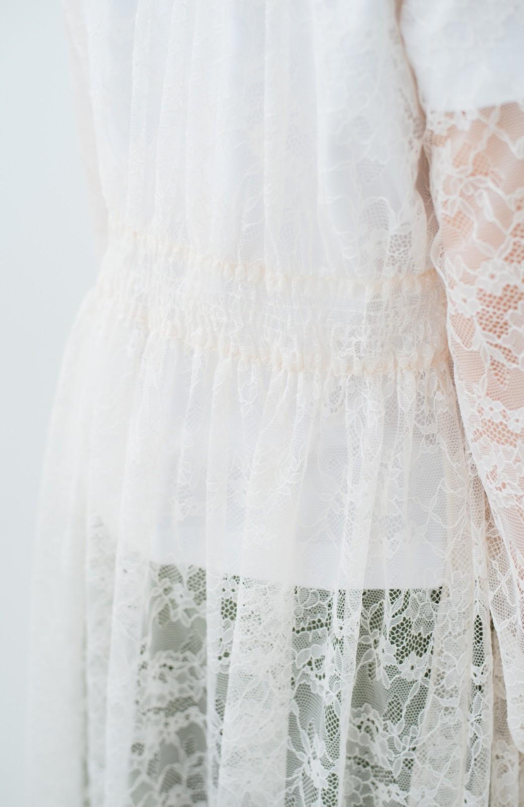 haco! KANA MATSUNAMI Lacy Maxi Dress <ホワイト>の商品写真8