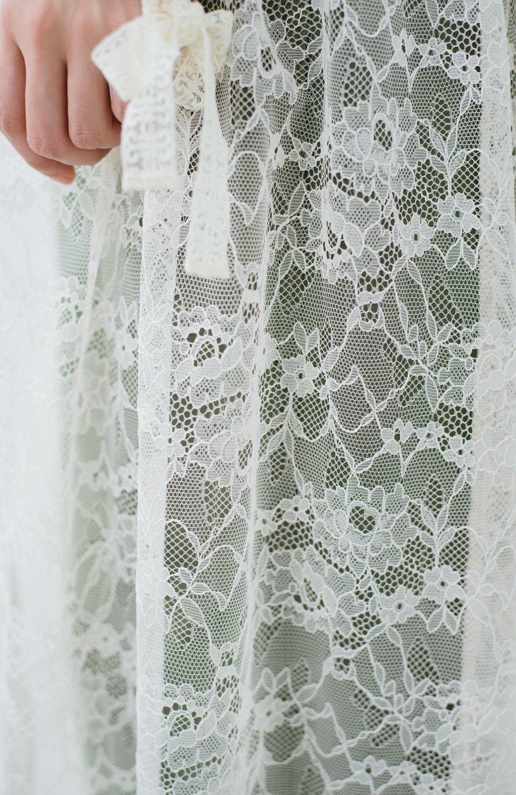 haco! KANA MATSUNAMI Lacy Maxi Dress <ホワイト>の商品写真9