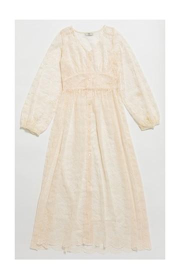haco! KANA MATSUNAMI Lacy Maxi Dress <ホワイト>の商品写真