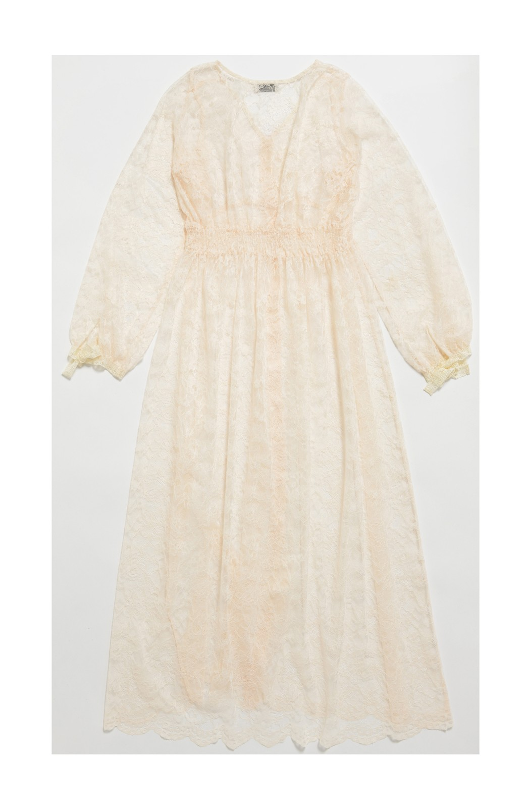 haco! KANA MATSUNAMI Lacy Maxi Dress <ホワイト>の商品写真3