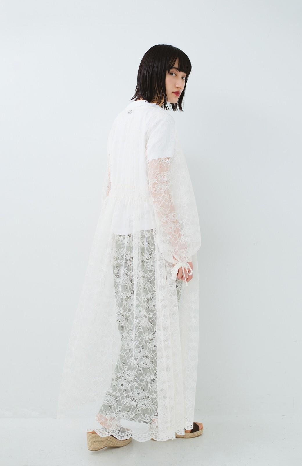 haco! KANA MATSUNAMI Lacy Maxi Dress <ホワイト>の商品写真15