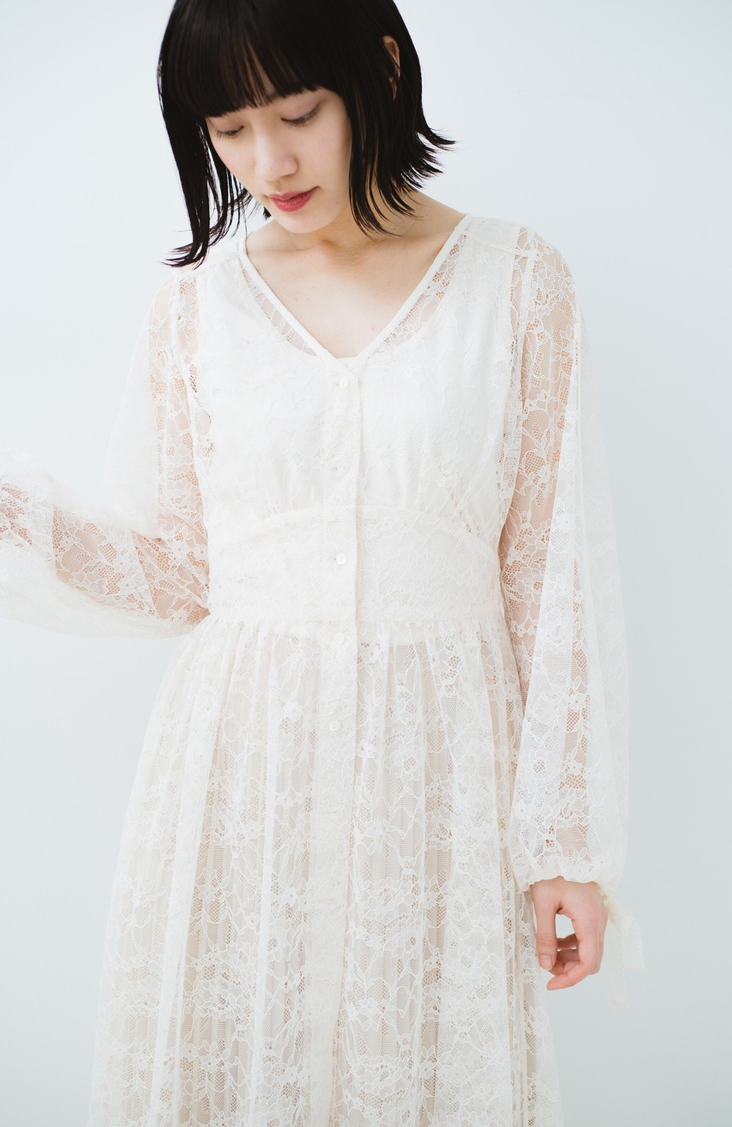 haco! KANA MATSUNAMI Lacy Maxi Dress <ホワイト>の商品写真23