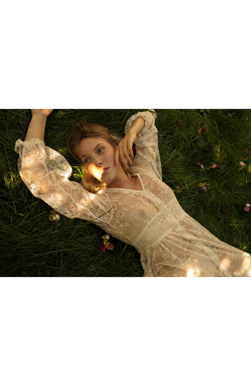haco! KANA MATSUNAMI Lacy Maxi Dress <ホワイト>の商品写真24