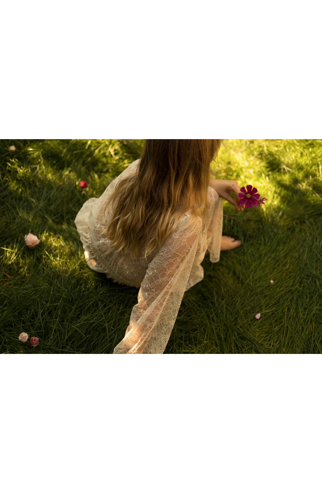 haco! KANA MATSUNAMI Lacy Maxi Dress <ホワイト>の商品写真25
