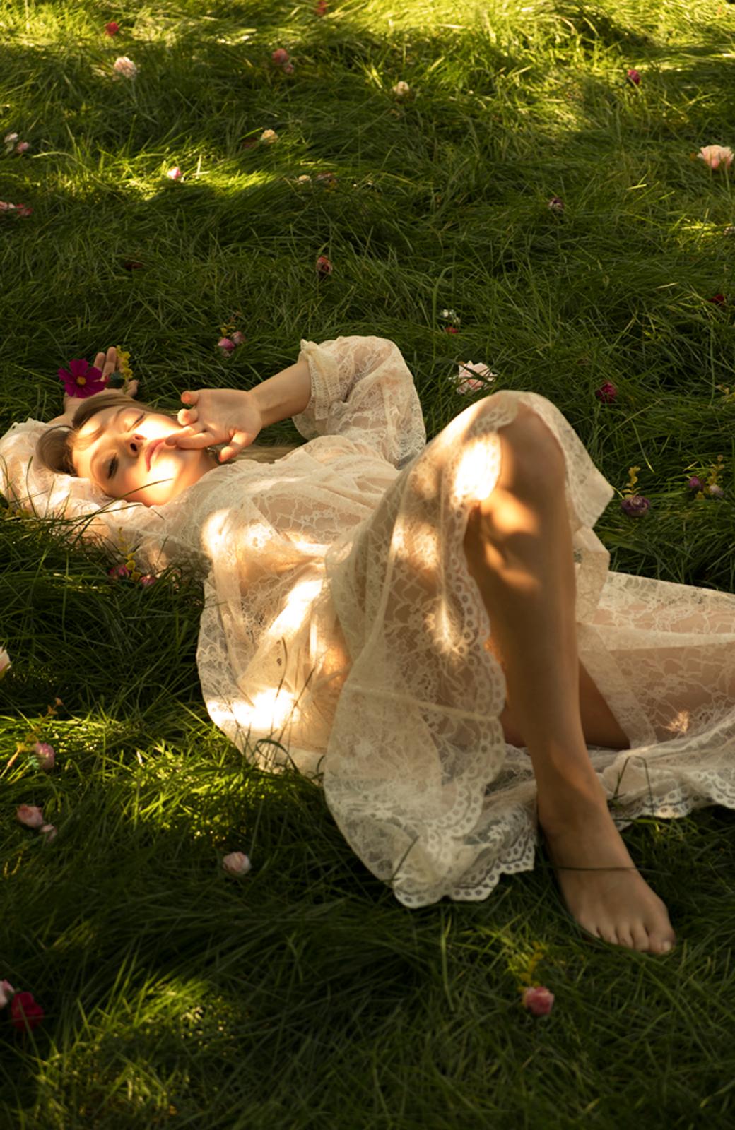 haco! KANA MATSUNAMI Lacy Maxi Dress <ホワイト>の商品写真26